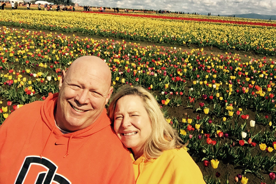 John and Maureen in the Tulips
